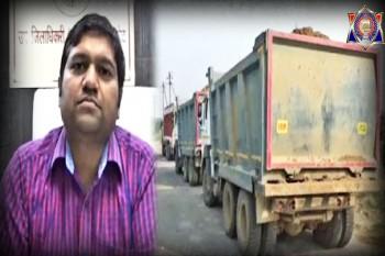 खनन माफियाओं पर एसडीएम का छापा,4 ट्रक किए सीज