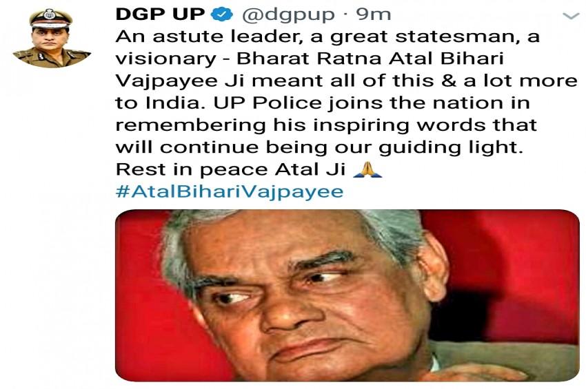 डीजीपी ओपी सिंह ने भारत रत्न अटल बिहारी वाजपेयी को दी श्रद्धांजलि