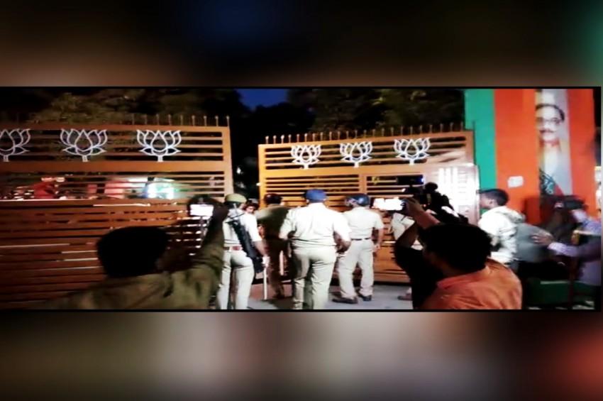 बीजेपी कार्यकर्ताओं पर लाठीचार्ज पड़ा भारी,इंस्पेक्टर समेत 3 लाइन हाज़िर