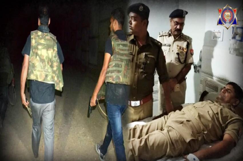 आजमगढ़ एनकाउंटर में धरा गया 75 हजार का इनामी बदमाश