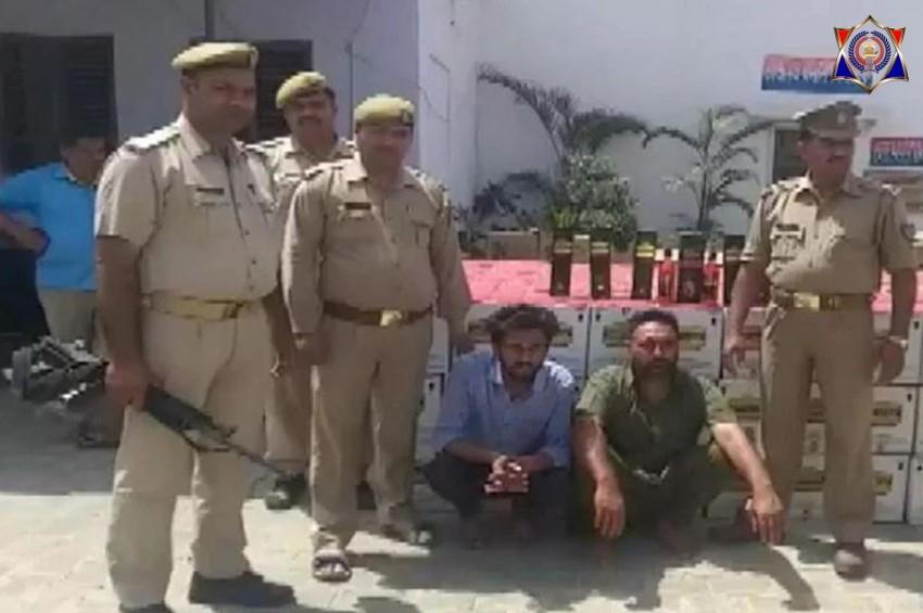बुलंदशहर पुलिस ने 578 पेटी विदेशी अंग्रेजी शराब के साथ दो अन्तर्राज्यीय शराब तस्करों को किया गिरफ्तार
