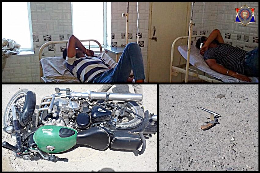 कविनगर में दिनदहाड़े पुलिस से हुई मुठभेड़ में दो घायल समेत चार बदमाश गिरफ्तार, एक सिपाही को भी लगी गोली