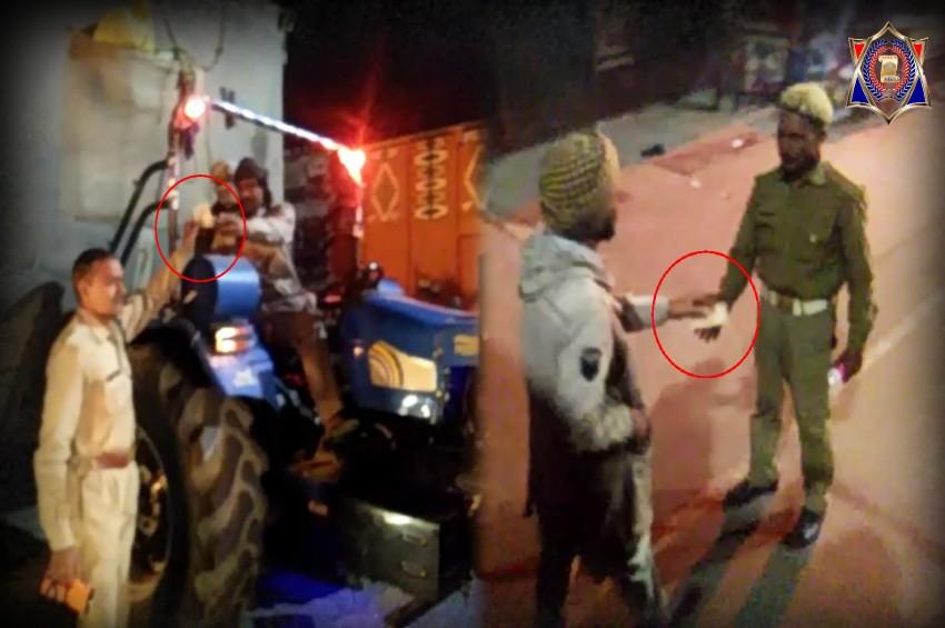 शामली में दो पुलिसवालों की घूसखोरी का वीडियो वायरल