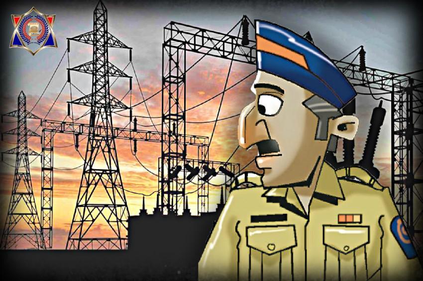 बिजली चोरी के आरोप में पकड़ा गया सिपाही तो दी गालियां