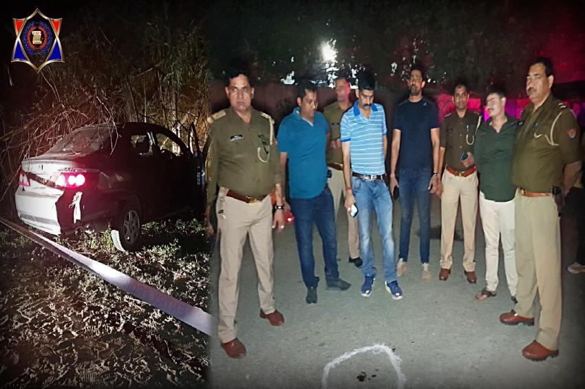 दिल्ली से सटे नॉएडा में पुलिस और बदमाशों के बीच ठांय ठांय