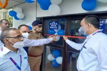 एसएसपी ने रिजर्व पुलिस लाइन में बने एसबीआई के एटीएम का किया शुभारंभ