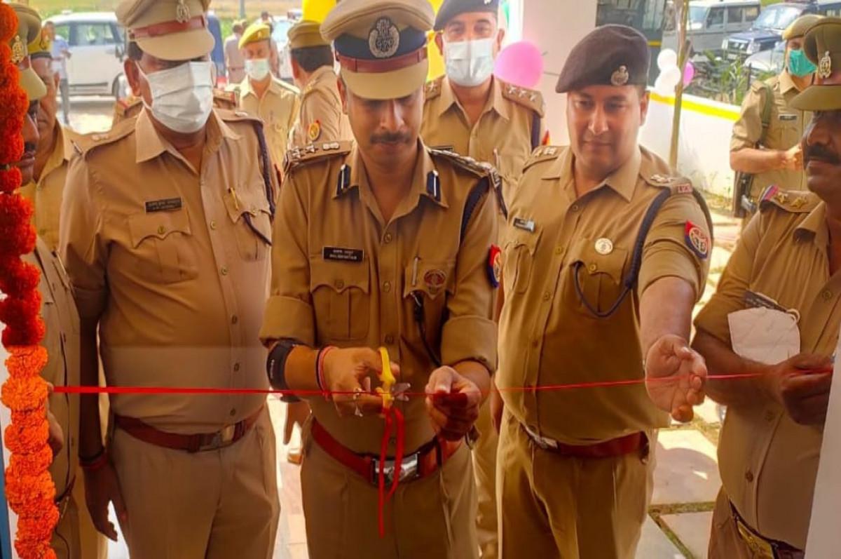 संभल : SSP ने किया पुलिस चौकी का उद्धघाटन