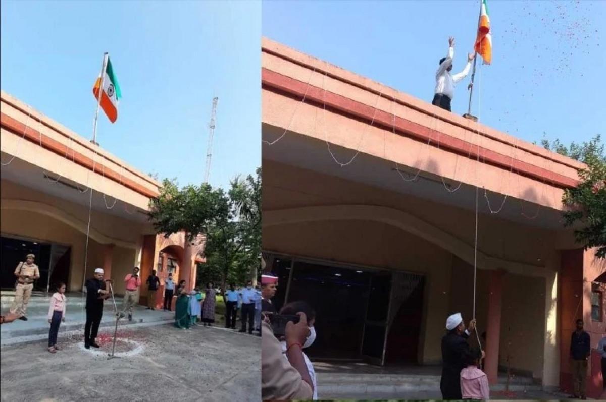 स्वतंत्रता दिवस पर UP के औरैया में हुआ तिरंगे का अपमान, DM ने किया उल्टा ध्वजारोहण, Video वायरल