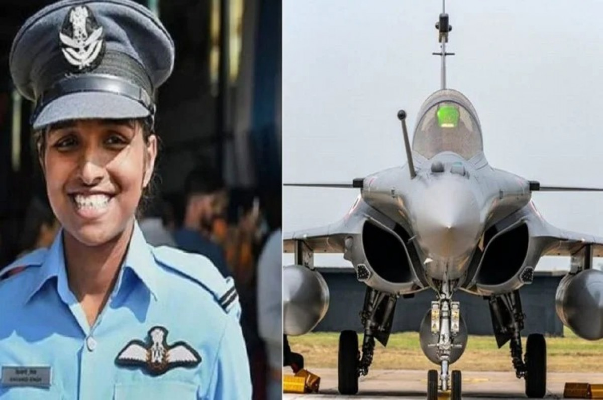 Indian Air Force Day : देश की पहली महिला फ्लाइट लेफ्टिनेंट शिवांगी सिंह ने आज राफेल संग आसमान में भरी उड़ान